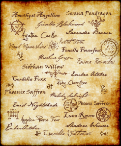 witchnames